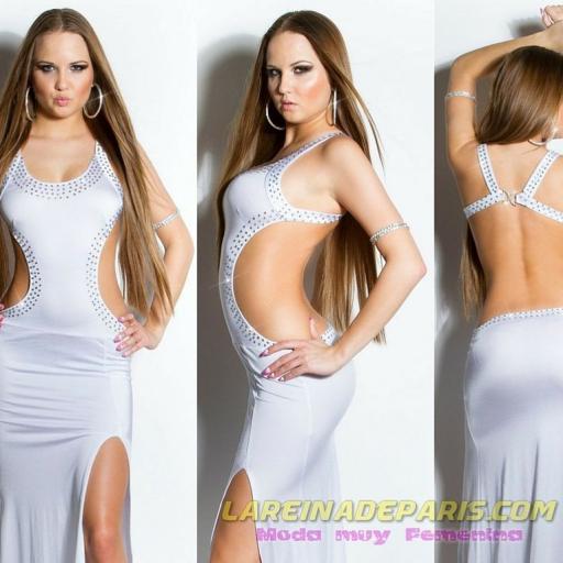 Vestido largo de espalda escotada