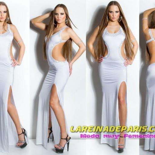 Vestido largo de espalda escotada [3]