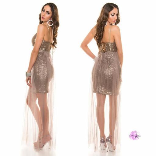 Vestido corto lenjuelas brillantes CHC [1]