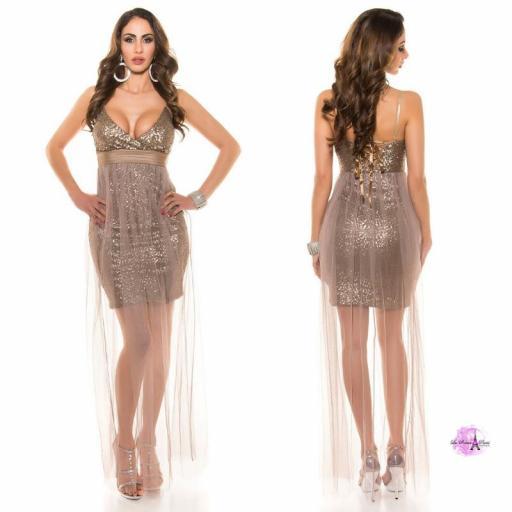 Vestido corto lenjuelas brillantes CHC [3]