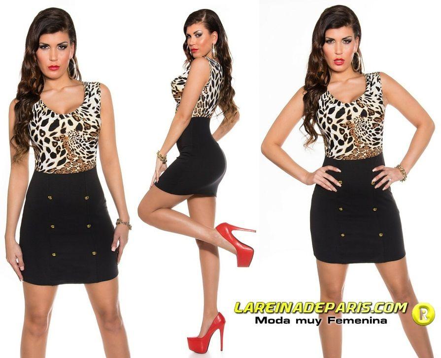 Vestido animal print low cost
