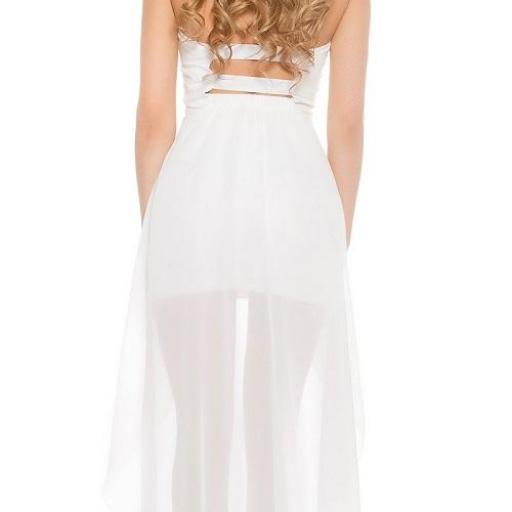 Vestido corto largo blanco [1]