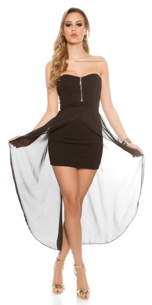 Vestido semi largo glamoroso