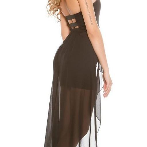 Vestido semi largo glamoroso [2]