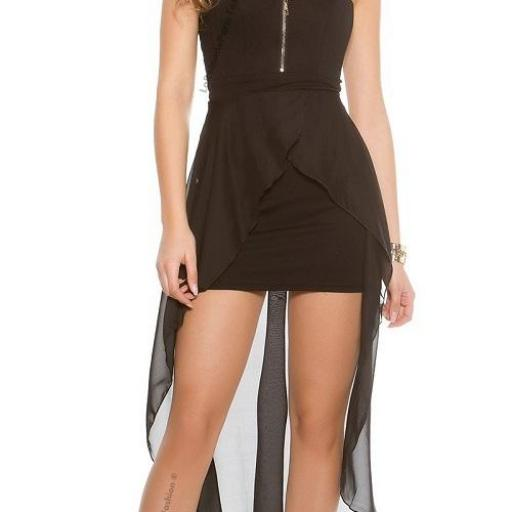 Vestido semi largo glamoroso [3]
