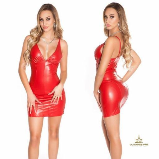 Vestido corto ajustado escote sexy  [1]