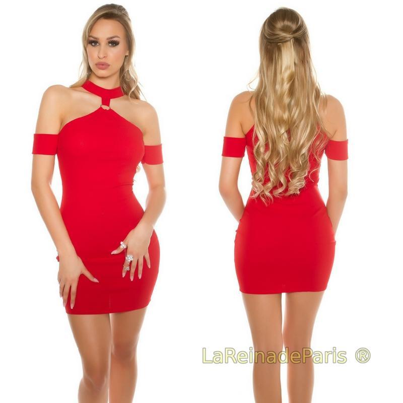 Vestido Malika rojo ajustado