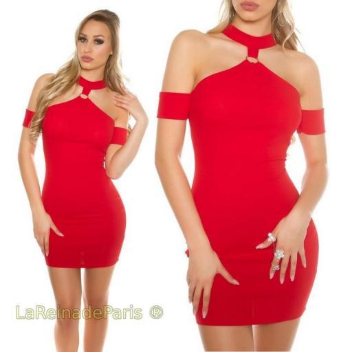 Vestido Malika rojo ajustado [3]
