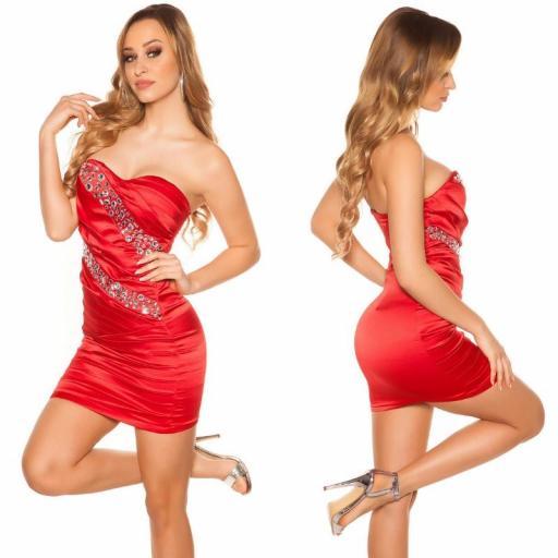 Vestido sedoso rojo y brillo  [2]