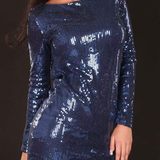 Vestido de fiesta corto Baker azul [2]