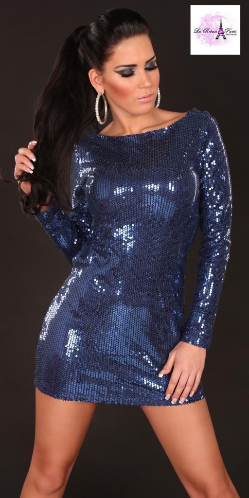 Vestido de fiesta corto Baker azul