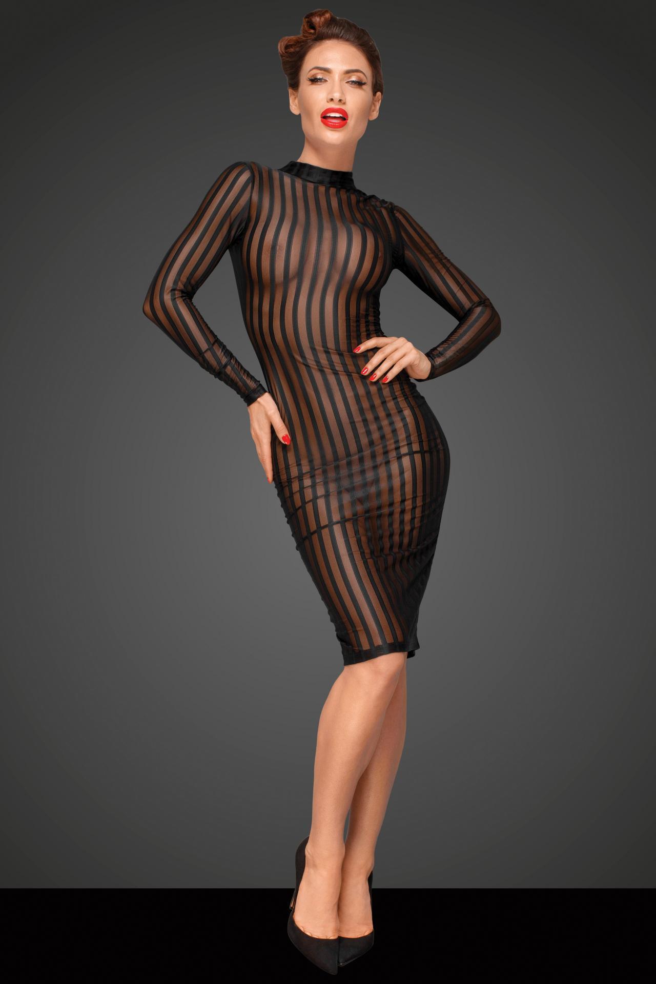 Vestido transparente y ajustado