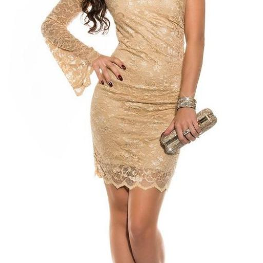 Vestido de fiesta encaje champagne [1]