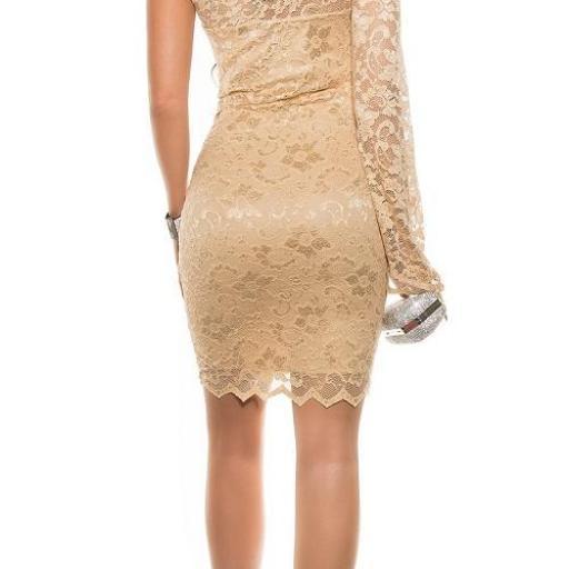 Vestido de fiesta encaje champagne [2]