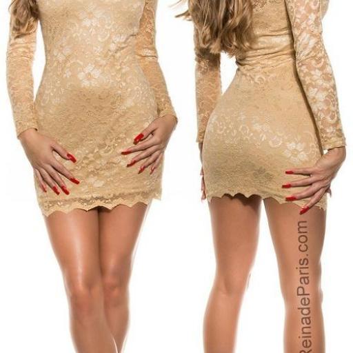 Vestidos de encaje sexy Champagne