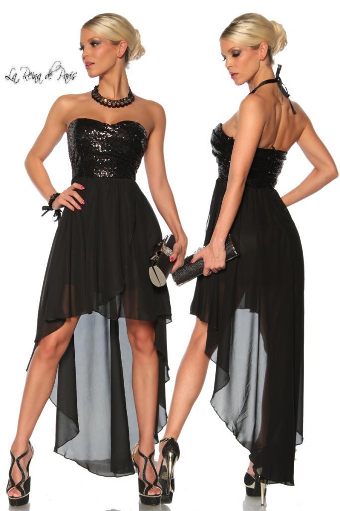 Vestido de fiesta La Reina de París negro