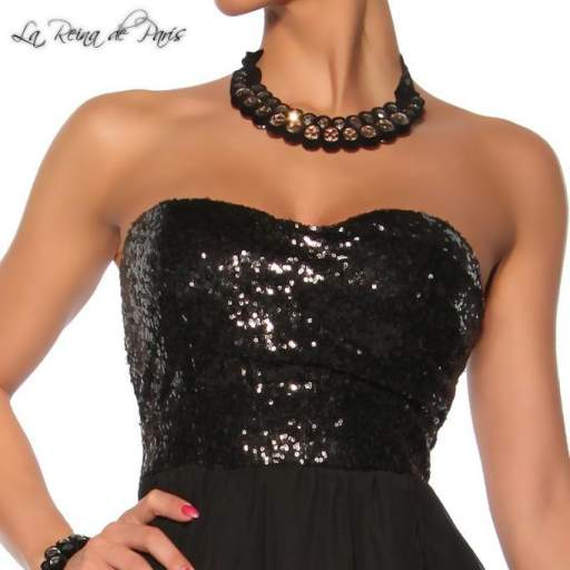 Vestido de fiesta La Reina de París negro [1]