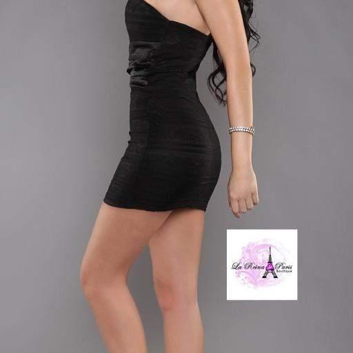Vestido negro corto de encaje Miracle [2]