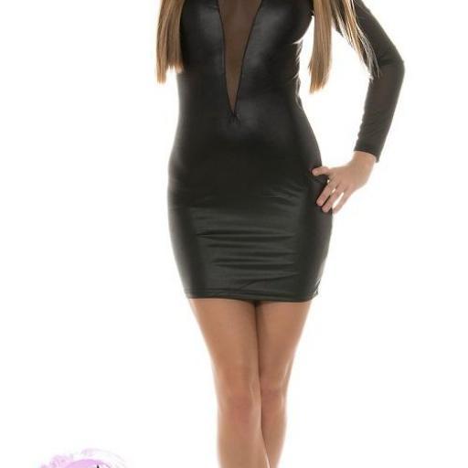 Vestido atractivamente sexy negro [1]