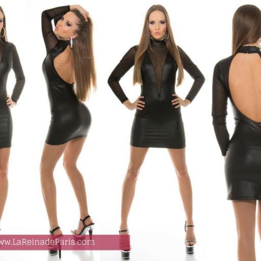 Vestido atractivamente sexy negro [3]