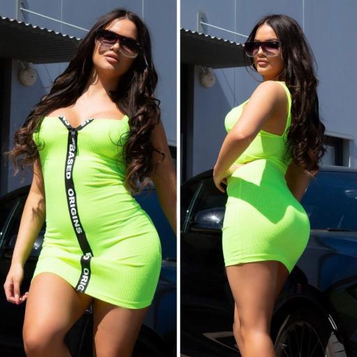 Vestido ajustado Based Origins verde