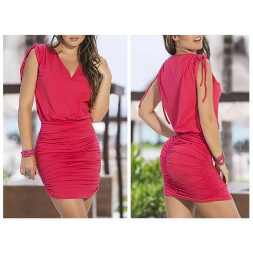 Vestido encanto rosa