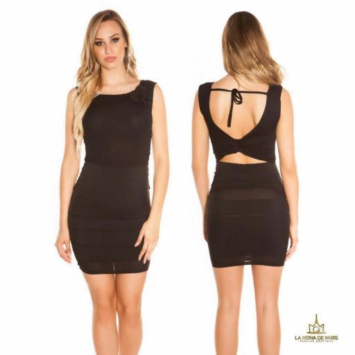 Vestido corto negro FV