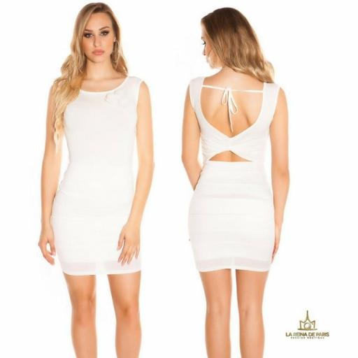 Vestido corto blanco FV