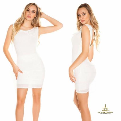 Vestido corto blanco FV [1]