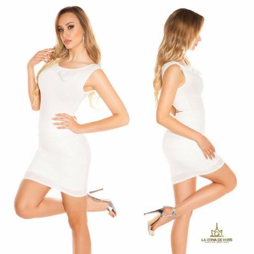 Vestido corto blanco FV [2]