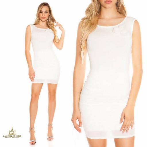 Vestido corto blanco FV [3]
