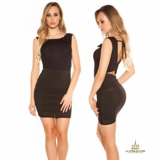 Vestido corto negro FV [1]