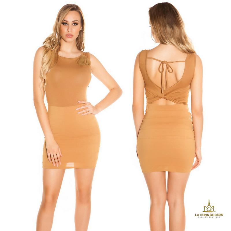 Vestido corto caramelo FV