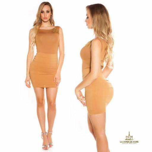 Vestido corto caramelo FV [1]