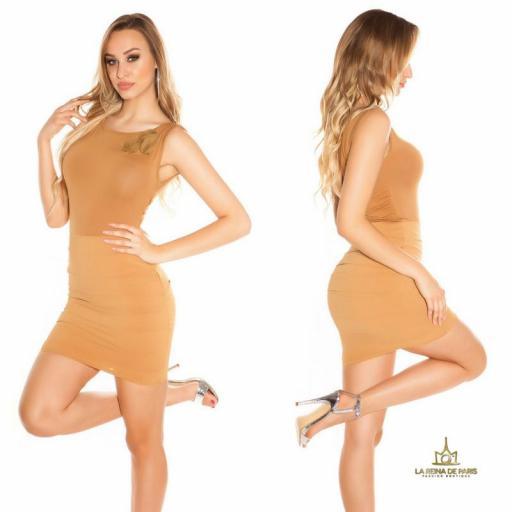 Vestido corto caramelo FV [2]
