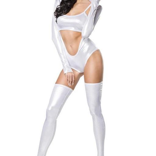 Body moda para el espectáculo metalizado