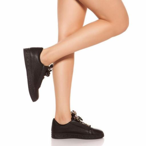 Zapatillas fashion cordones decorativos [3]
