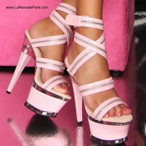 Zapatos plataforma Enitan rosa