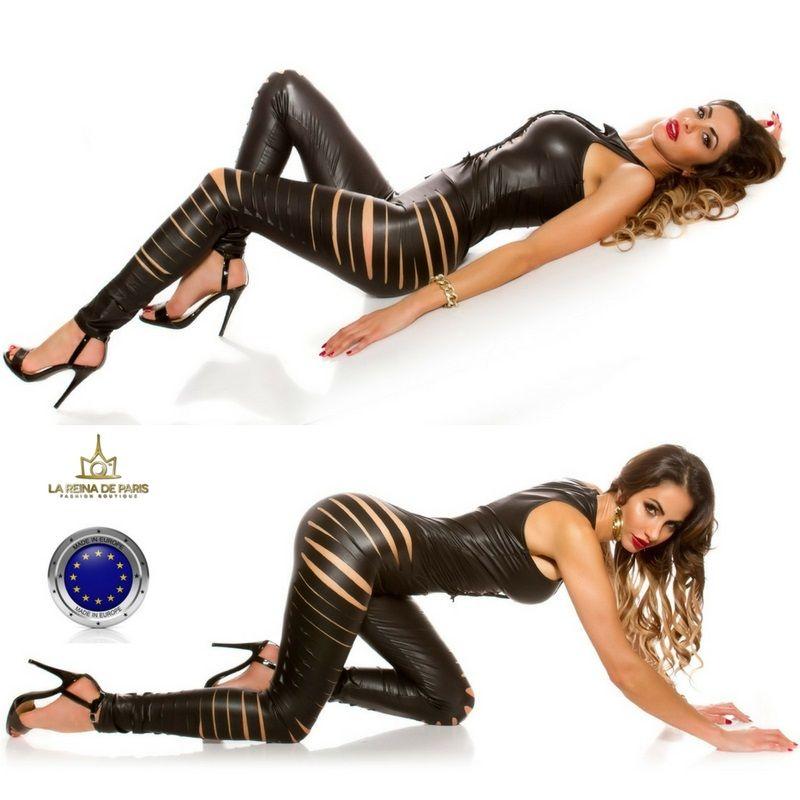 Ropa_sexy_mono_ajustado_efecto_cuero_