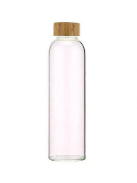 102-S Botella tapón madera + Funda Rosa (550ml) [1]