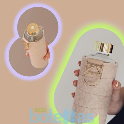 EQUA Beige botella de cristal (750ml) con funda [3]