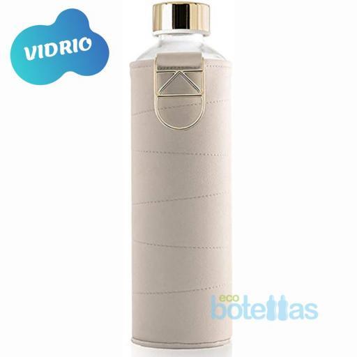 EQUA Beige botella de cristal (750ml) con funda