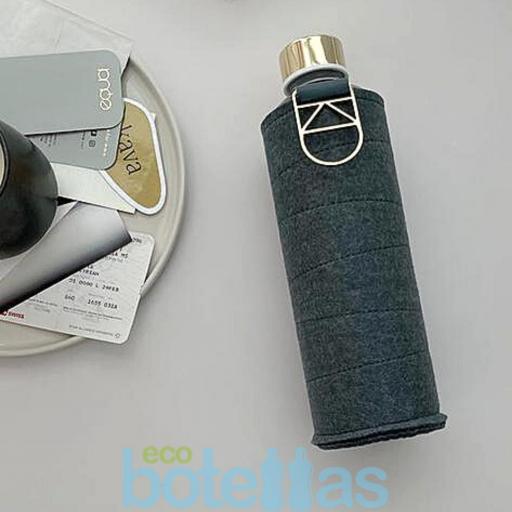 EQUA Blueberry botella de cristal (750ml) con funda [2]