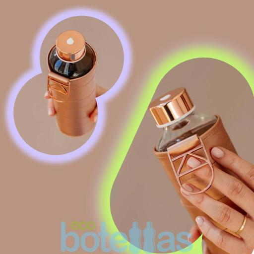 EQUA Bronze botella de cristal (750ml) con funda [3]