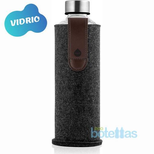 EQUA Chocolate botella de cristal (750ml) con funda