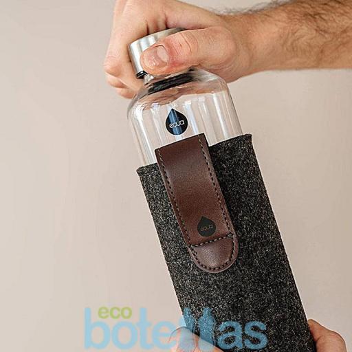 EQUA Chocolate botella de cristal (750ml) con funda [3]