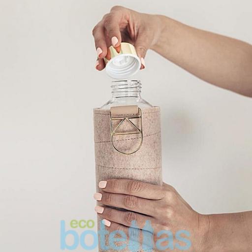 EQUA Cookie botella de cristal (750ml) con funda [3]