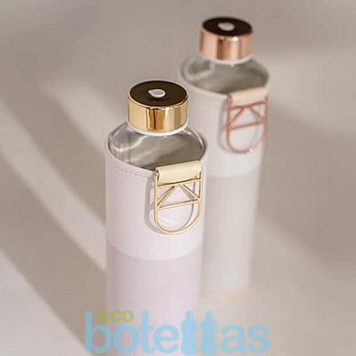 EQUA Lila botella de cristal (750ml) con funda [3]