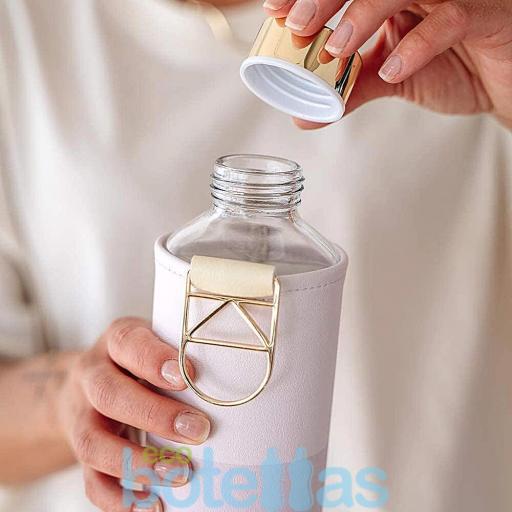EQUA Lila botella de cristal (750ml) con funda [1]
