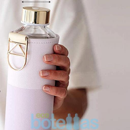 EQUA Lila botella de cristal (750ml) con funda [2]